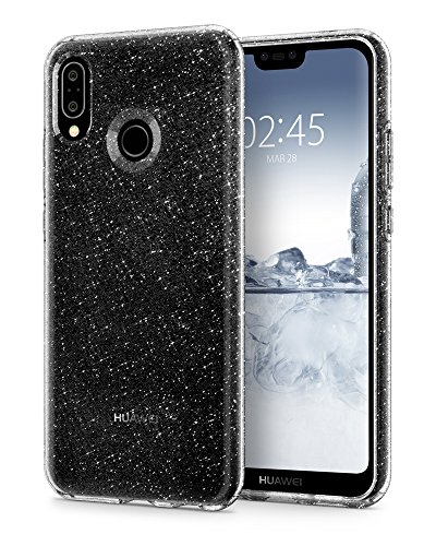 Spigen Liquid Crystal Huawei P20 lite Case with Light but Durable Flexible Clear TPU Protection for Huawei P20 lite (2018) - Glitter Crystal Quartz