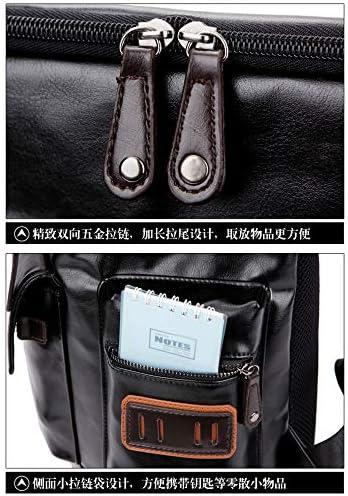 LOUYT Messenger Bag Full Grain Document Hommes Sac à Main en Cuir Noir Porte-Documents Sac de Travail avec Compartiments BusinessNoir Black large