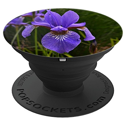 Iris Purple Flower Blossom Bouquet - PopSockets Grip and Stand for Phones and Tablets