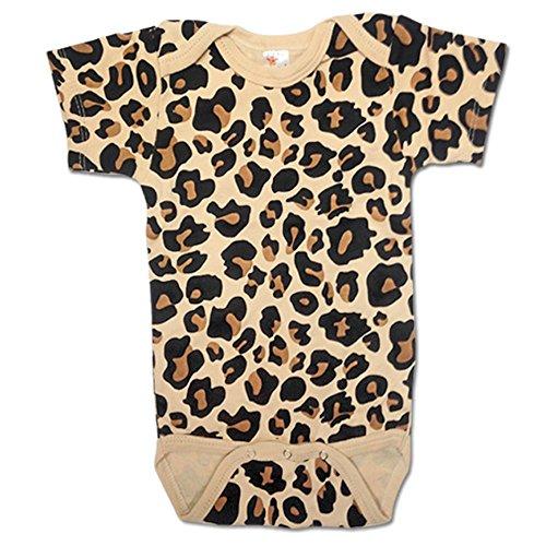 Unisex Infant Animal Print Cotton Baby Bodysuit Onesie (3-6M, Leopard Print) (3 Piece Print Onesie)