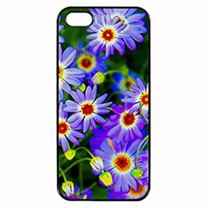 beautiful purple flowers Printed Plastic Rubber Sillicone Customized iPhone 5 Case, iPhone 5S Case Cover, Protection Quique Cover, Perfect fit, Show your own personalized phone Case for iphone 5 & iphone 5S