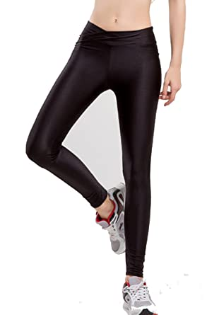 ac907b3ae02 Romastory Women Fluorescent Colors Tights Stretched Sports Leggings Yoga  Pants (S