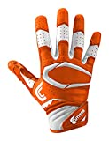 Cutters Gloves S451 Rev Pro 2.0 Receiver Safety Cornerback Gloves With C-Tack Grip, ORANGE, Youth M