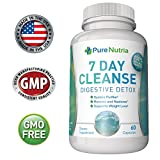 7 Day Quick Cleanse for Weight Loss - Gentle and Effective Detox and Increased Energy Levels 60 Capsules