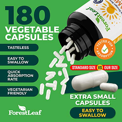 Vitamin D3 5,000 IU Daily Supplement - 180 Vegetable Capsules - by ForestLeaf