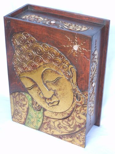 Decorative Box, Handpainted Buddha, Large Box ()