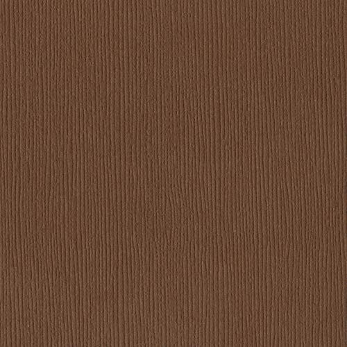 Bazzill Truffle 12x12 Textured Cardstock | 80 lb Chocolate-Brown Scrapbook Paper | Premium Card Making and Paper Crafting Supplies | 25 Sheets per Pack ()