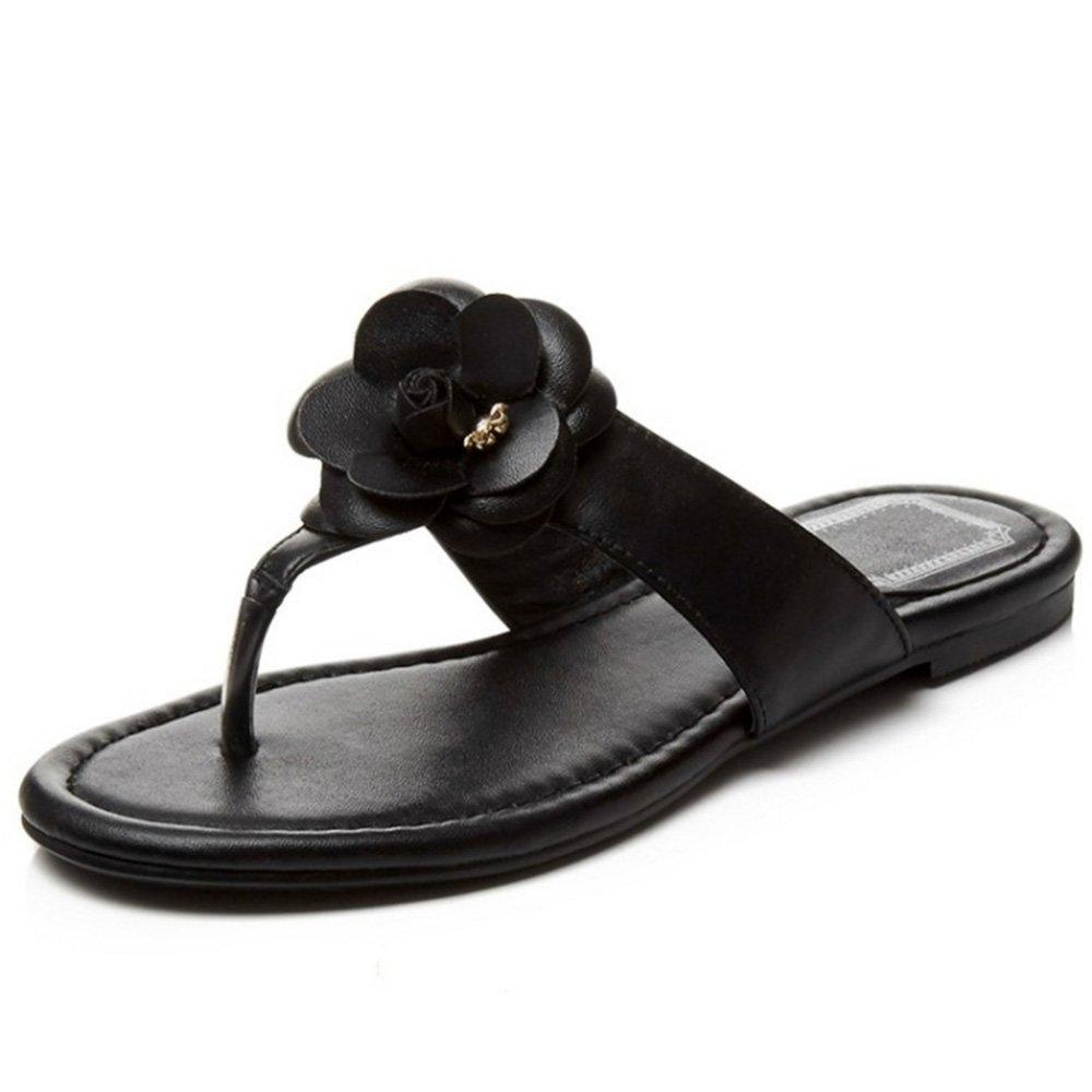 RizaBina Women Comfortable Flower Slide Sandals Flat Flip Flop Summer Beach Shoes
