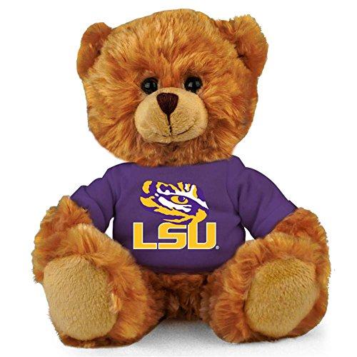 (LSU Tigers 8'' Plush Hoodie Bear - Purple/Gold)