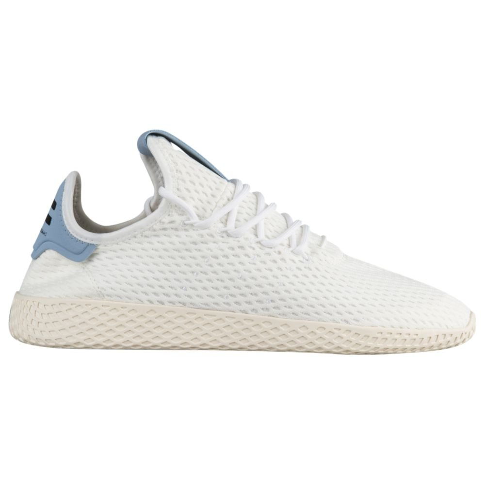 ae57185dcbff5 Galleon - Adidas Originals Pharrell Williams Tennis HU Men s Shoes  White White Blue By8718 (12 D(M) US)