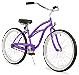 "Firmstrong Urban Lady Single Speed - Women's 26"" Beach Cruiser Bike (Purple)"