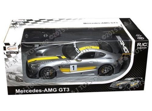 New 1:14 W/B RASTAR RC Radio Control - Gray Mercedes-AMG GT3 Licensed by RASTAR
