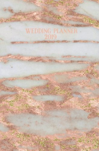 Wedding Planner 2019: Rose Gold Marble Blank Wedding Planning Notebook, 110 Lined Pages, 5.25 x 8, Stylish Journal for Bride, Place Where She Can Keep ... Perfect Engagement Gift, Bridal Party Gifts
