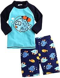 2T-7T Kids Boys 50+ UPF Rashguard Swimsuit Bathing Suit...