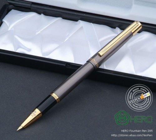 hero-fountain-pen-285-accounting-pen-extra-fine-nib-matte-glossy-gray-finish-new