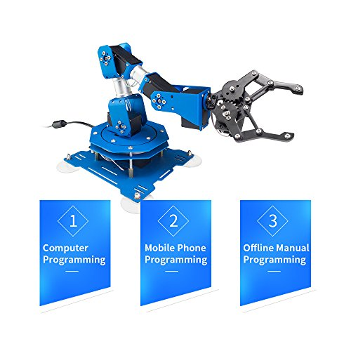 LewanSoul xArm 6DOF Full Metal Programmable Robotic Arm with Feedback of Servo Parameter, Wireless/Wired Mouse Control, Mobile Phone Programming for Arduino Scratch by LewanSoul (Image #3)