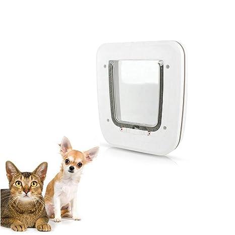 PETEMOO Puertas para Perros pequeños gateras para Perros y Gatos 4 vías de Bloqueo gateras de