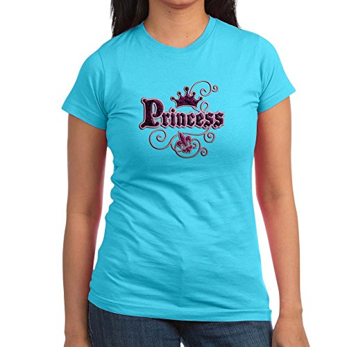 Royal Lion Junior Jr. Jersey T-Shirt (Dark) Fleur De Lis Princess - Aqua, Medium