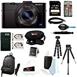 Sony DSC-RX100M II Cyber-shot Digital Camera with 64GB Deluxe Accessory Bundle