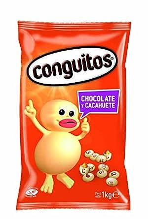 Conguitos Blancos Cacahuete con Chocolate - 1000 gr: Amazon.es: Alimentación y bebidas