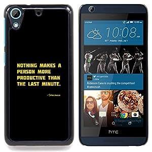 /Skull Market/ - Motivational Productive Funny Quote For HTC Desire 626 & 626s - Mano cubierta de la caja pintada de encargo de lujo -