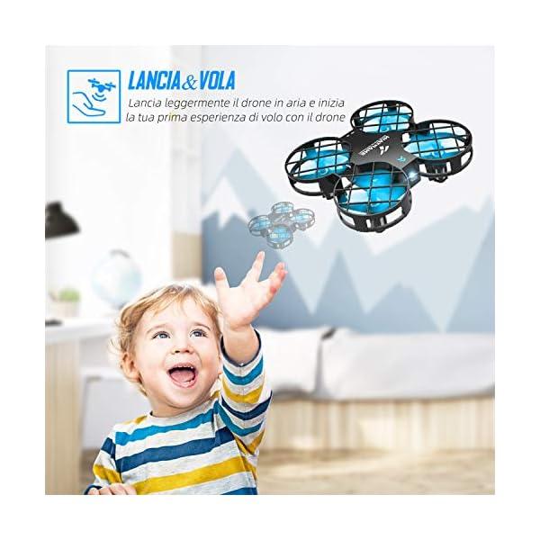 SNAPTAIN H823H Mini Drone per Bambini, Funzione Lancia&Vola, Funzione Hovering, Modalità Senza Testa, Rotazione a 360°, Decollo / Atterraggio a Un Pulsante, Velocità Regolabile 2 spesavip