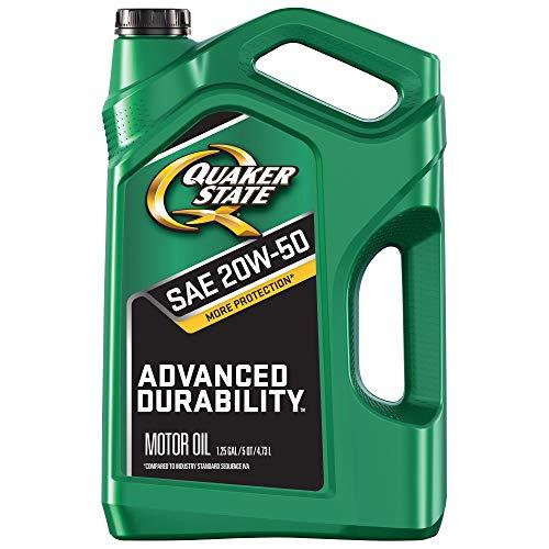 - Quaker State 550044960 Advanced Durability 20W-50 Motor Oil (SN, 5qt Jug), 5 quart