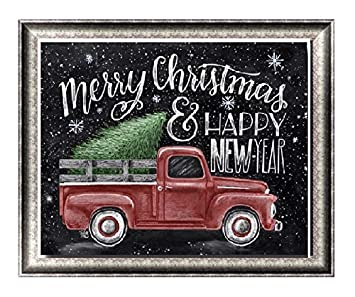 Christmas Red Truck.Apomelo 10 12 Inch Diy Diamond Painting By Numbers Christmas Red Truck Full Drill Painting With Diamond Rhinestone Dot Art Craft Happy New Year