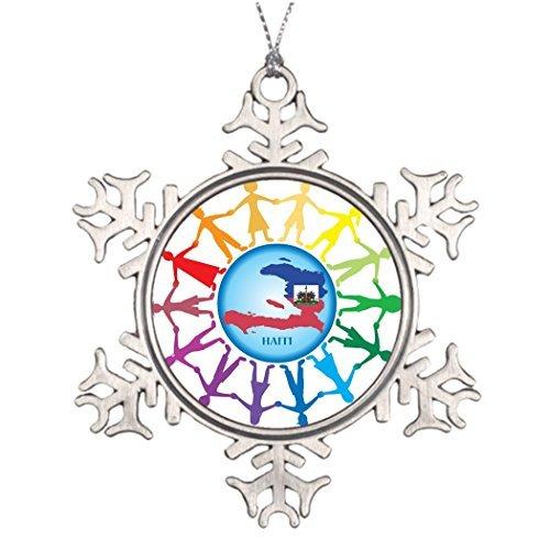 Lionkin8 Personalised Christmas Tree Decoration Help Haiti 2 Snowman Snowflake Ornament