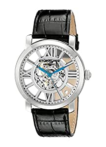 Stuhrling Original Men's 280.33152 Classic Winchester Terrace Mechanical Skeleton Silver Tone Watch