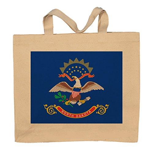 North Dakota State Flag Totebag Bag by T-ShirtFrenzy