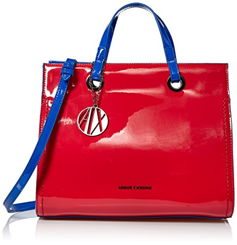 (A|X Armani Exchange Medium Patent Shopping Bag, 15575)