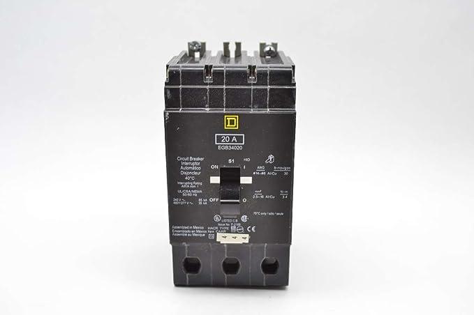 EGB34020 Lighting Circuit Breaker 35K Rated, Square D