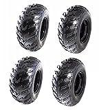 TDPRO Set of 4 ATV Tires 22x10-10 Wheels with Rims | Tubeless tire for Go Kart UTV Quad Bike
