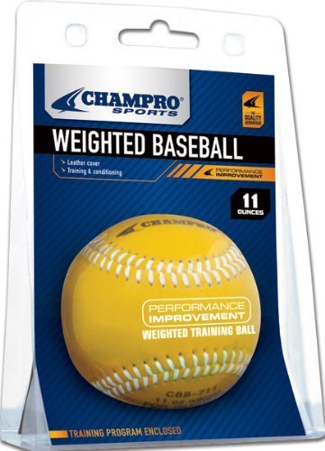 Champro Weighted Baseball Cover, Paket (Gelb, 11-ounce) by Champro