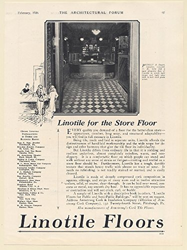 1926 Pickett & Stuart Jewelers Concord NH Linotile Floors Store Floor Print Ad - Concord Nh Stores