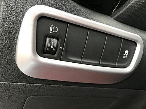 HIGH FLYING Car Accessories Headlight Switch Trim For Hyundai Kona 2017-2019