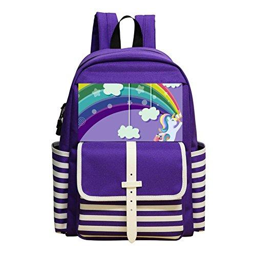 (Unicorn Rainbow Children Kids Student School Bag School)