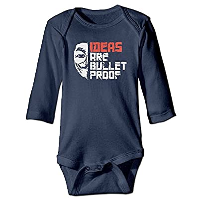 Cotton Ideas Are Bulletproof V For Vendetta Baby Onesie Bodysuits