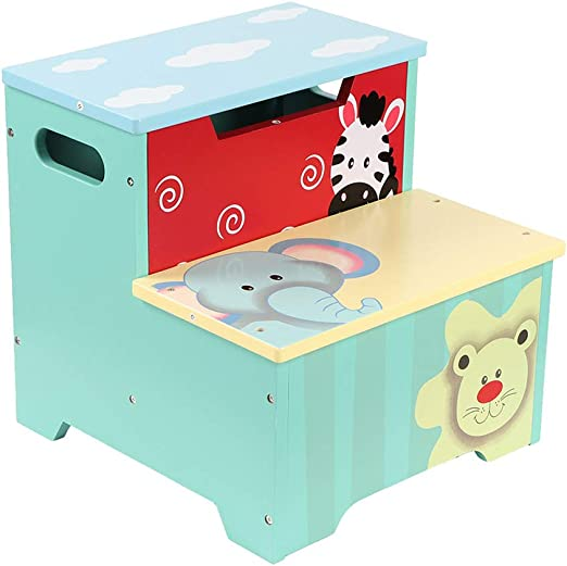 Greensen – Cofre de juguete para niños, taburete con espacio de almacenamiento, baúl para niños, madera, caja de almacenaje, taburete, taburete alto, caja de juguetes para la habitación de los niños: Amazon.es: