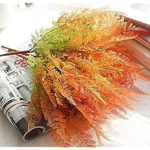 "YJBear 18"" Gradient Artificial Boston Fern Bush Plant Shrubs for Indoor Outside Home Garden Office Verandah Wedding D¨¦cor Wall Decoration 4 Pcs 50"