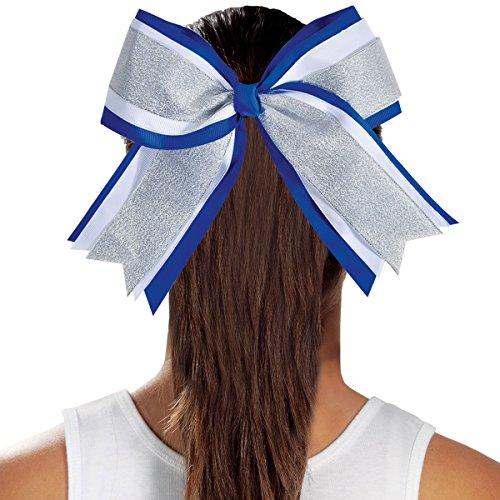 3 Color Metallic Jumbo Cheer Hair Bow