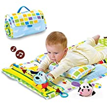 Yookidoo Tummy Time Musical Play Mat - Motorized Motion Track With 2 Characters And Fold Up Case