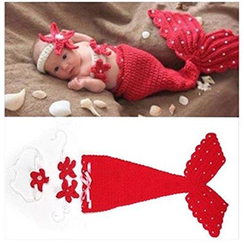 YOUAREEN Newborn Photography Props Infant Boys Girls Crochet