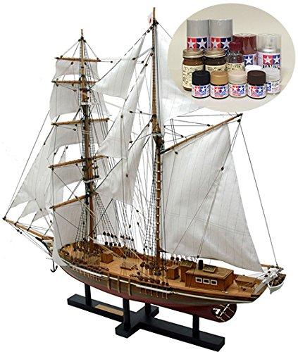 ウッディジョー/木製帆船模型 1/70忍路丸+塗料セット B004IIBYHI