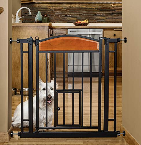 Carlson Pet Products Design Studio Home Decor Walk Through Pet Gate (Carlson Extra Wide Gate With Small Pet Door)