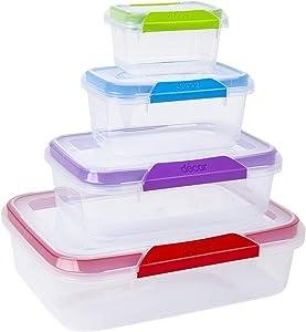 DÉCOR Match-ups Airtight Food Storage Container 8 Pc Set
