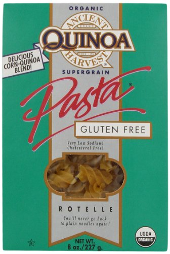 Ancient Harvest Organic Quinoa Pasta, Rotelle, 8 Ounce (Pack of 12) (Ancient Vines)