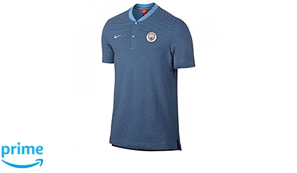 Nike Manchester City Modern Authentic Polo, Azul, 48/50: Amazon.es ...