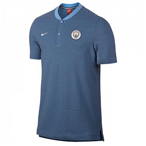 Grand Slam Jacket - 2017-2018 Man City Nike Authentic Grand Slam Polo Shirt (Blue)